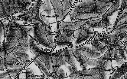 Old map of Withacott in 1895