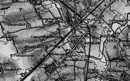 Old map of Witham in 1896