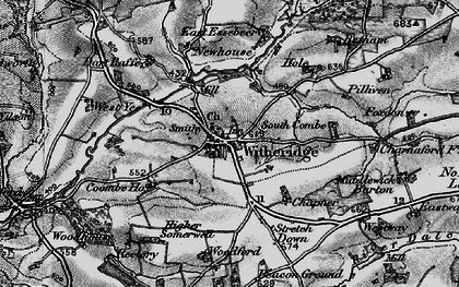 Old map of West Yeo Moor in 1898