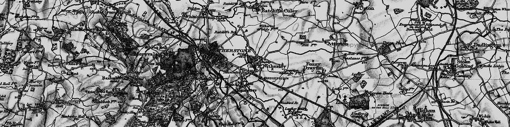 Old map of Witherley in 1899