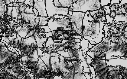 Old map of Withermarsh Green in 1896