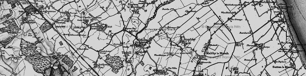 Old map of Withern in 1899