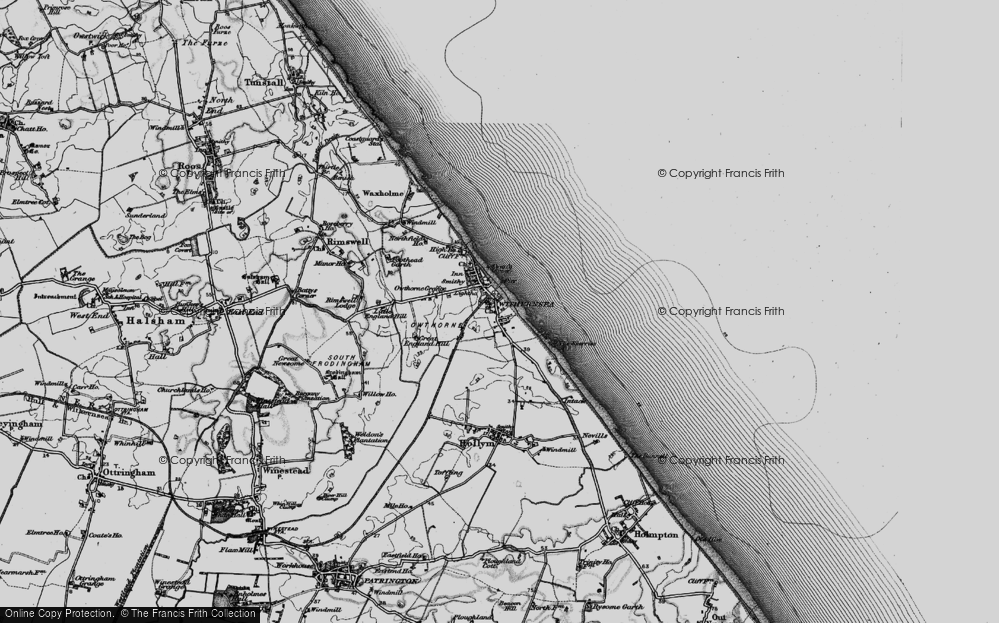 Old Map of Withernsea, 1895 in 1895