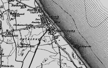 Old map of Withernsea in 1895