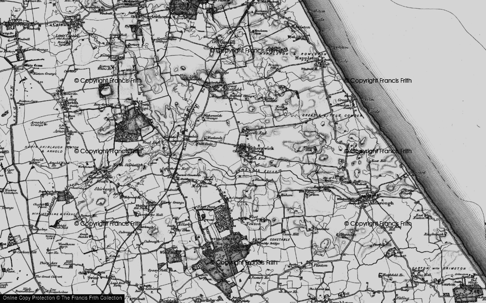 Old Map of Withernwick, 1897 in 1897