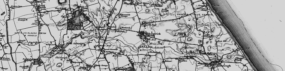 Old map of Withernwick in 1897