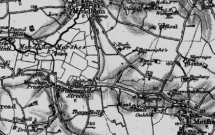 Old map of Withersdale Street in 1898