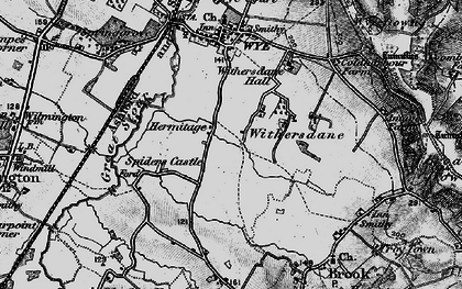 Old map of Withersdane in 1895