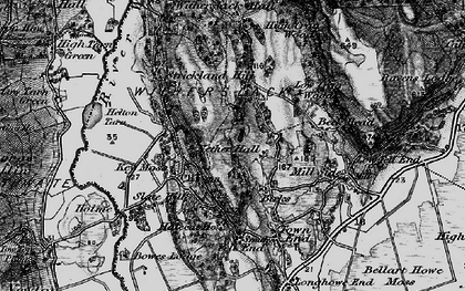 Old map of Lawns in 1898
