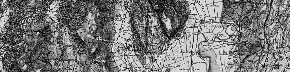 Old map of Witherslack Hall (Sch) in 1898