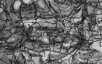 Old map of Withiel in 1895