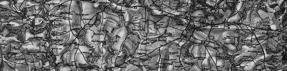 Old map of Wivelscombe Barrow in 1898
