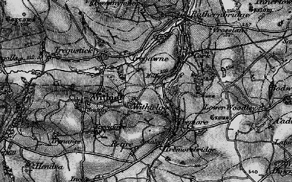 Old map of Withielgoose Mills in 1895