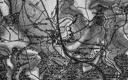 Old map of Withington in 1896