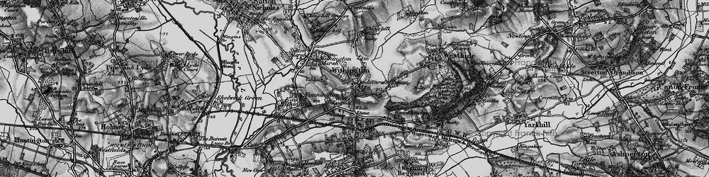 Old map of Withington in 1898