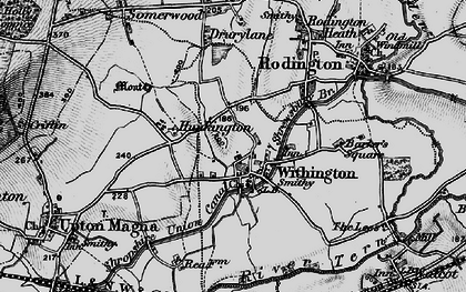 Old map of Withington in 1899