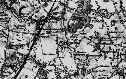 Old map of Withington Hall in 1896