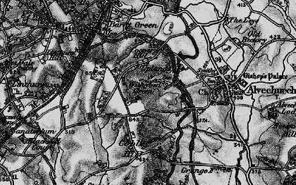 Old map of Withybed Green in 1898