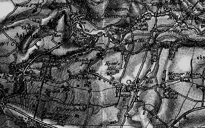 Old map of Withybrook in 1898