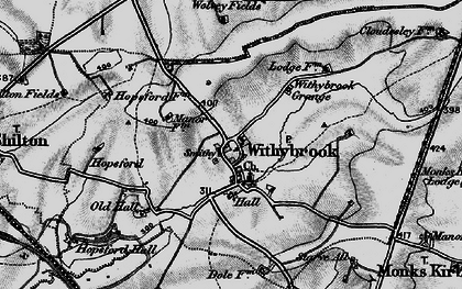 Old map of Withybrook Spinney in 1899
