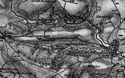 Old map of Winsford Hill in 1898