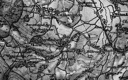 Old map of Withycombe in 1898