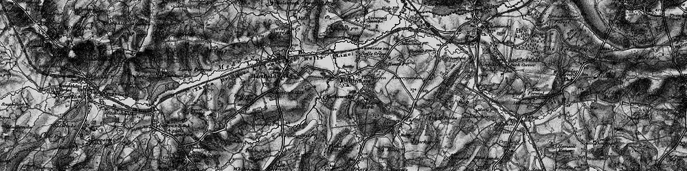 Old map of Withyham in 1895