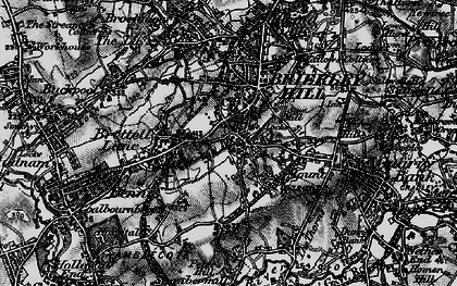 Old map of Withymoor Village in 1899