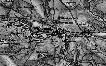 Old map of Withypool in 1898