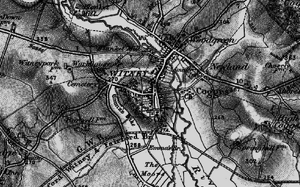 Old map of Witney in 1895