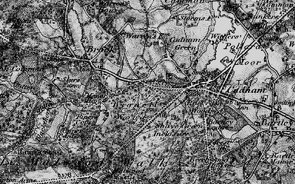 Old map of Wittensford in 1895