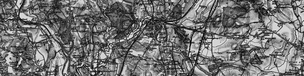 Old map of Witton in 1898
