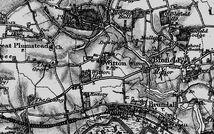 Old map of Witton Ho in 1898