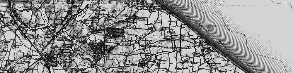 Old map of Witton Bridge in 1898