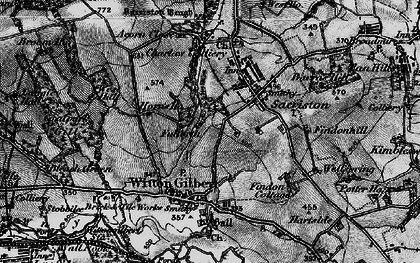 Old map of Witton Gilbert in 1898