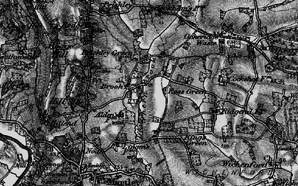 Old map of Witton Hill in 1898