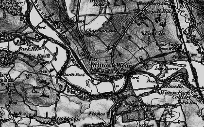 Old map of Witton Castle in 1897