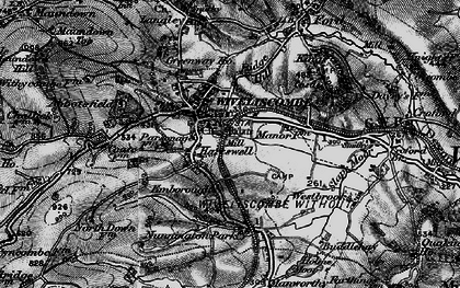Old map of Wiveliscombe in 1898