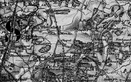 Old map of Wivelsfield in 1895