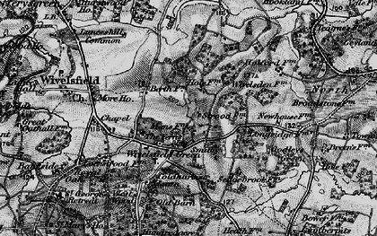 Old map of Wivelsfield Hall in 1895