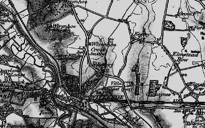 Old map of Wivenhoe in 1896