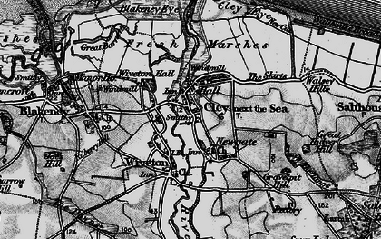 Old map of Wiveton in 1899
