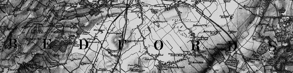 Old map of Wixams in 1896