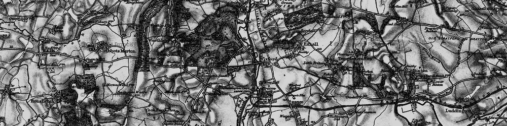 Old map of Wixford in 1898