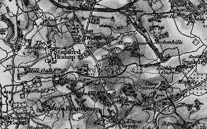 Old map of Wofferwood Common in 1898