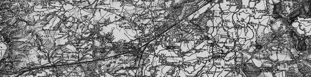 Old map of Woking in 1896