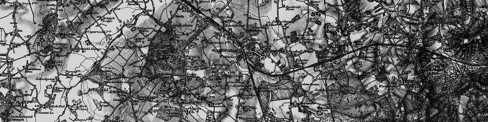Old map of Wokingham in 1895