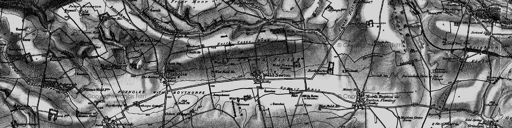 Old map of Wold Cottage, The in 1898