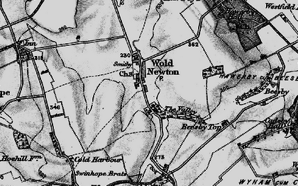 Old map of Wold Newton in 1899