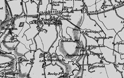 Old map of Woldhurst in 1895